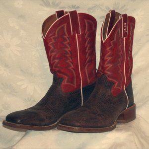 Tony Lama Tan Crush Blaze Americana Cowboy Boots